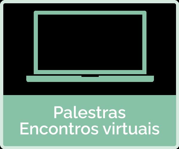icone: notebook - texto: palestras e encontros virtuais