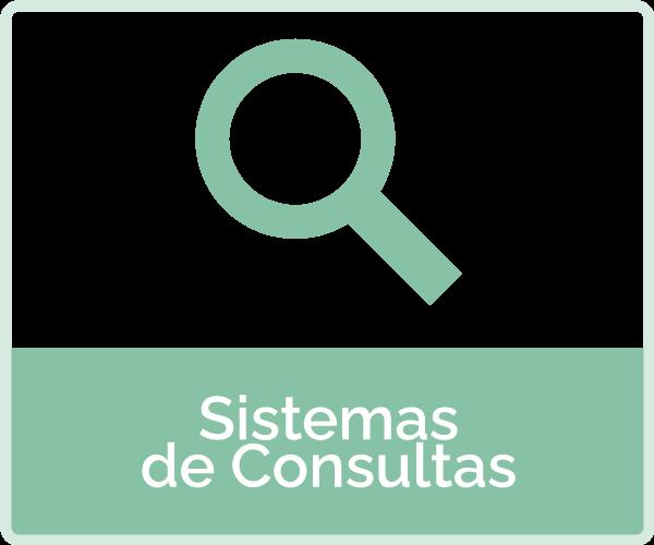 icone: lupa - texto: sistemas de consultas